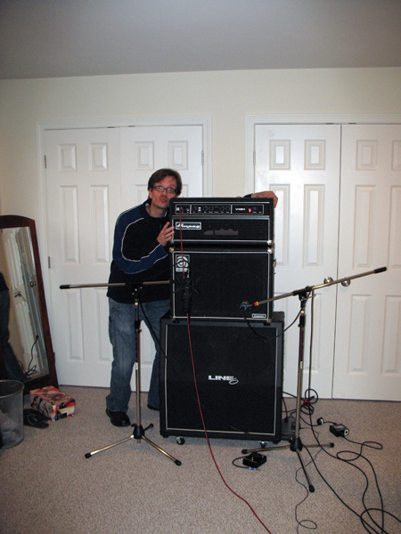 Photo of Jim Collins and his bass rig