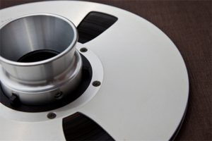 Audio tape reel used to record beats