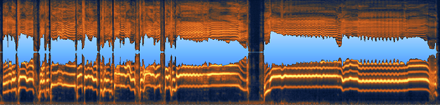 image of a wav file in audio post production