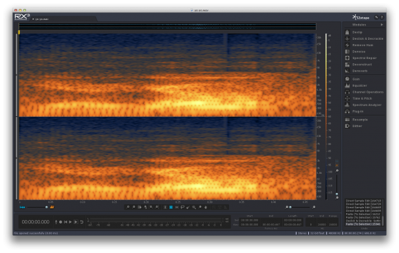 Image of iZotope RX3 stand alone application