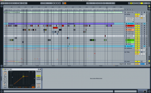 an example of how checkerboarded dialog looks in a DAW when mixing sound for film