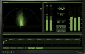 a screen capture of the iZotope Insight loudness meter a key tool in mixing sound for film