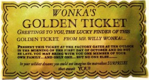 Image of willy wonkas golden ticket