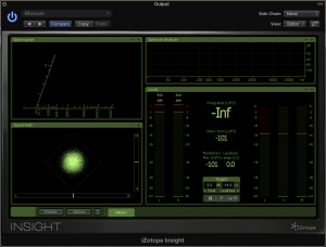Image of iZotope Insight showing the processing noise that CLA Vocals plugin adds to the signal path.