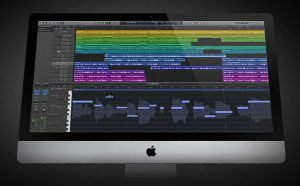 Image of Logic Pro X on a computer screen