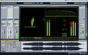 Image of an audio file being mastered