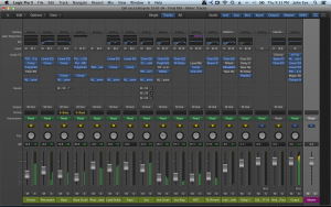 Logic Pro mixing session at Beach House Studios