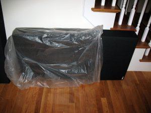 Unpacking a GIK panel.