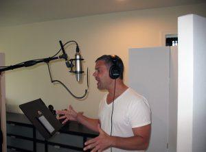 Gene Dante recording vocals at Beach House Studios