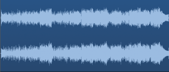 how a .wav file looks before mastering