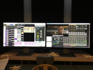 Pro tools audio post production for film session